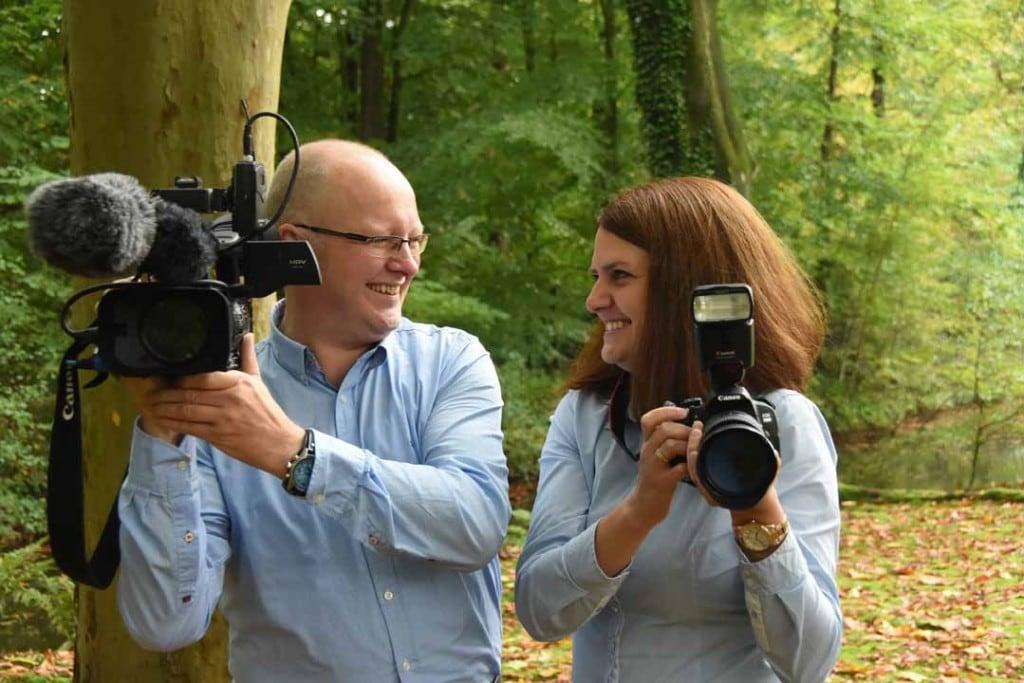 Kamerateam für Hochzeit