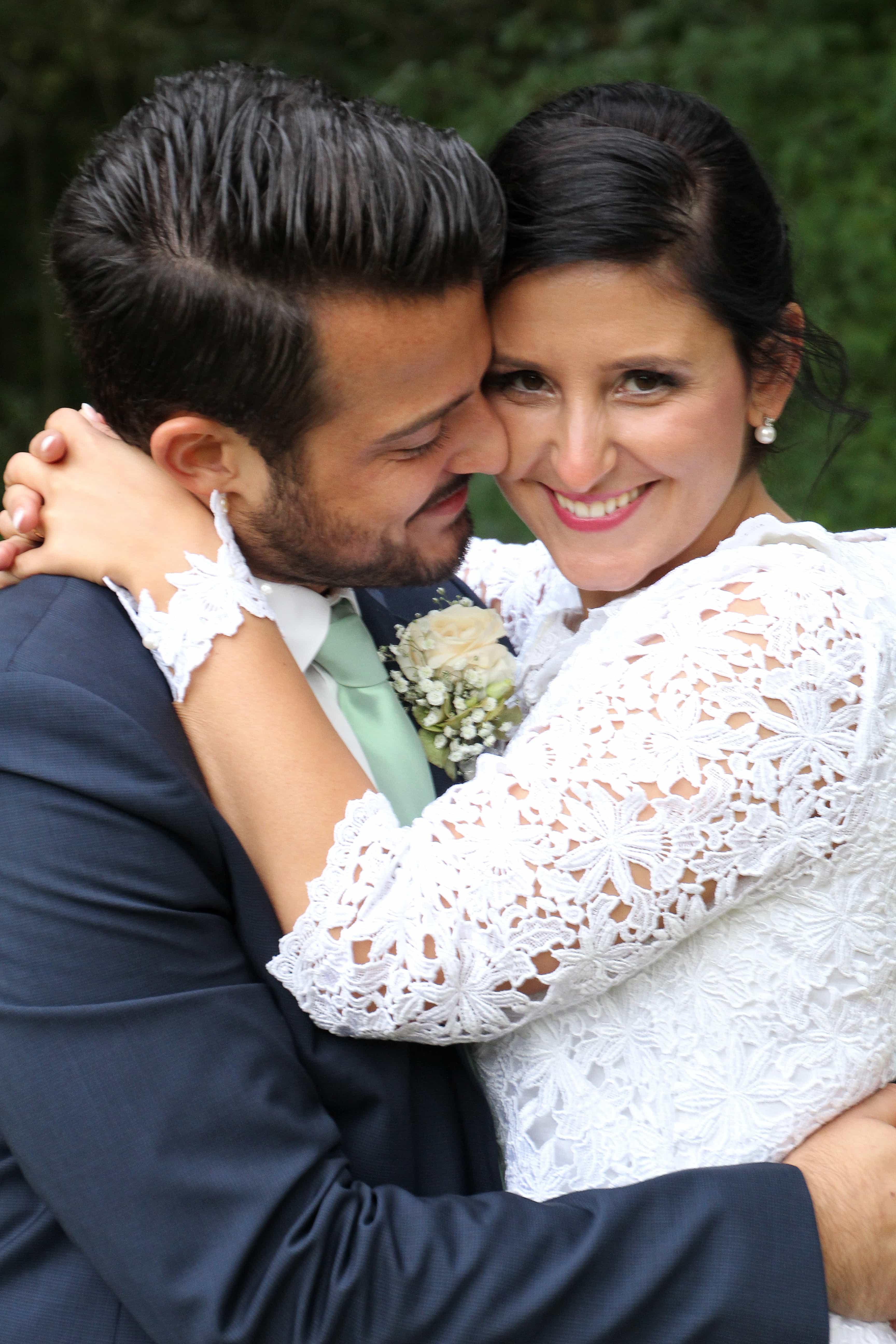 verliebtes Brautpaar - Fotograf für Hochzeit Münster
